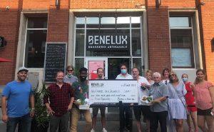 Remise de don à L'Ancre des Jeunes par Benelux x Bière Pop au Benelux de Verdun
